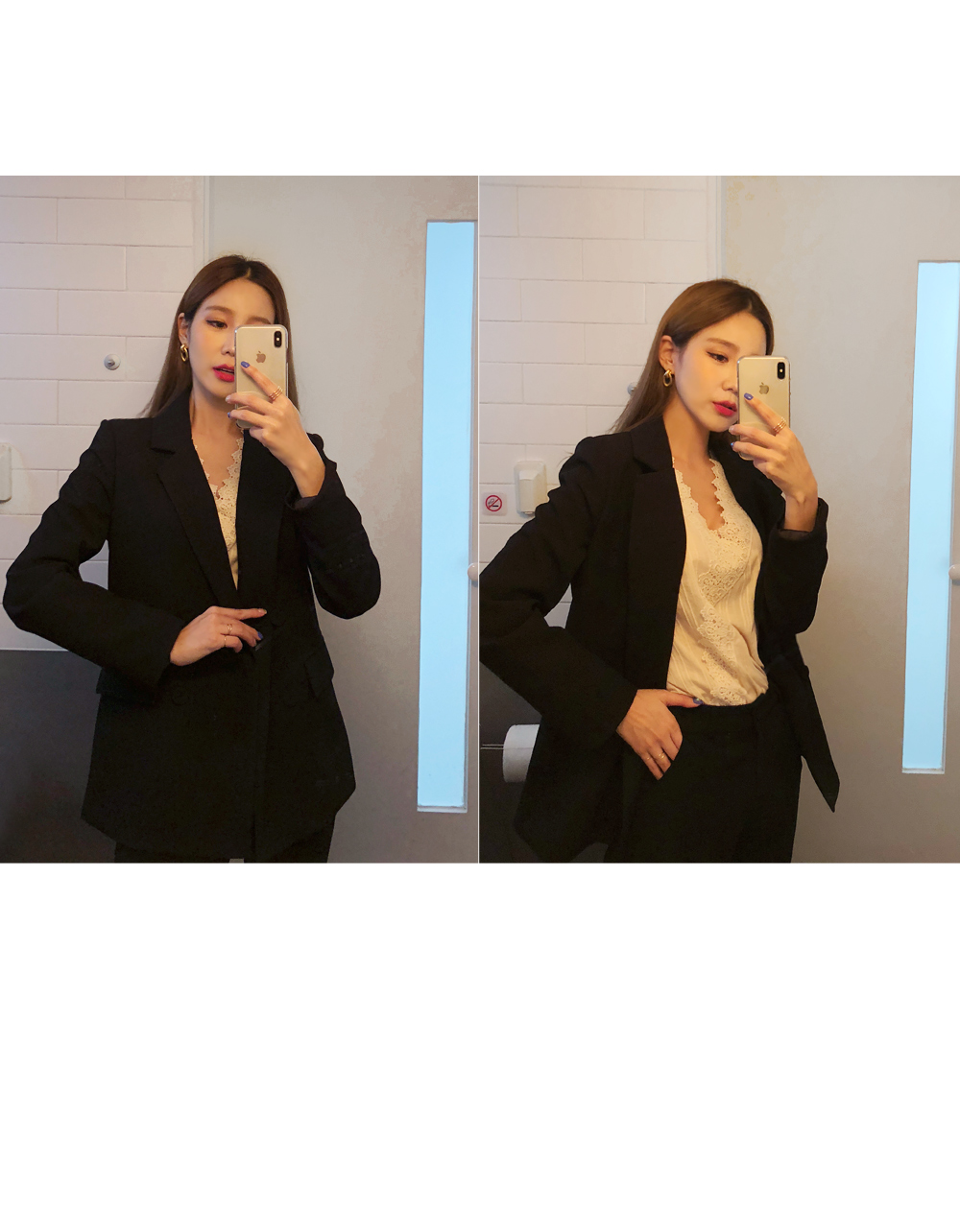 Sophisticated double button jacket
