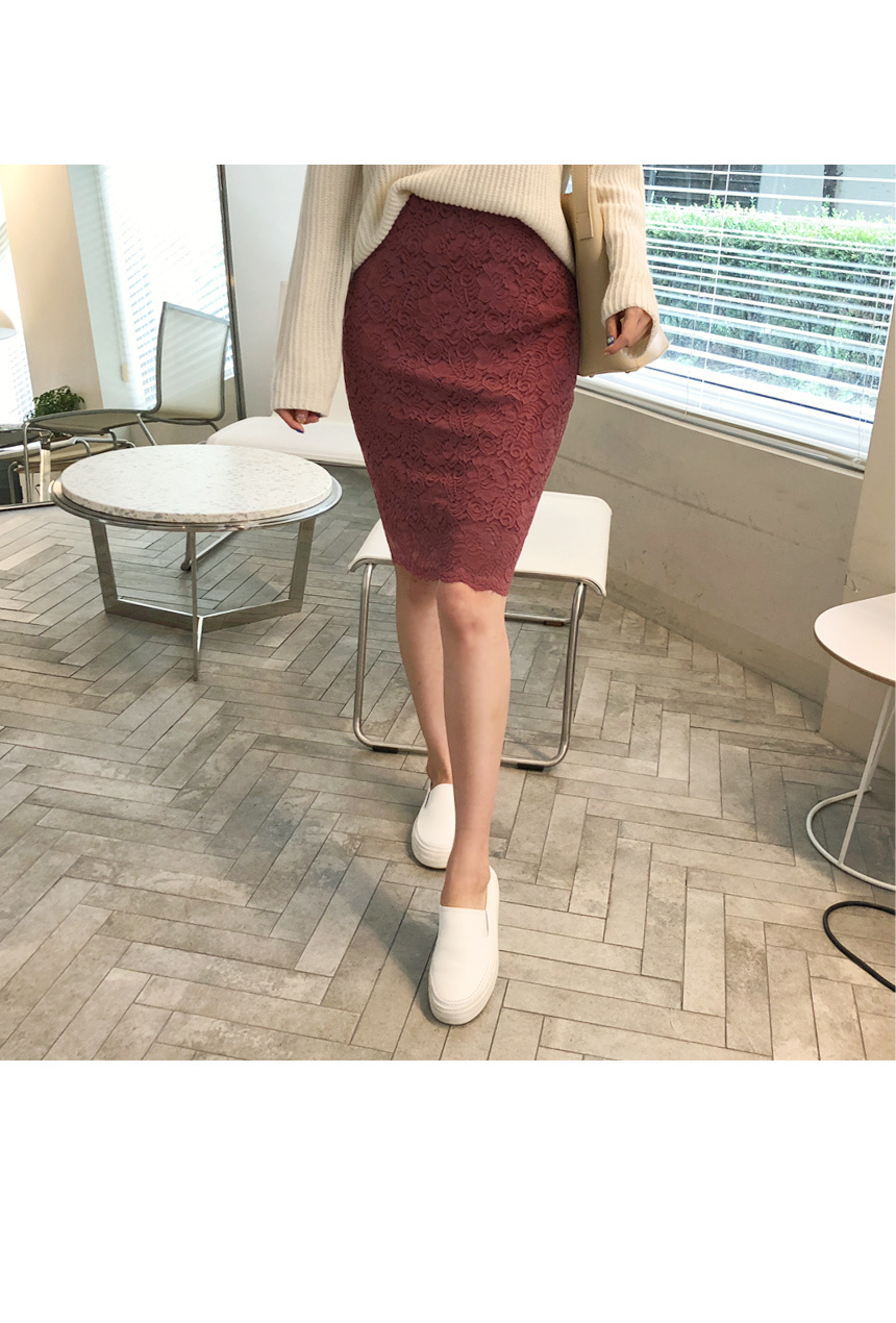 Beautiful color lace skirt