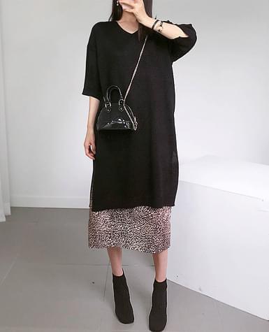 Top knit dress