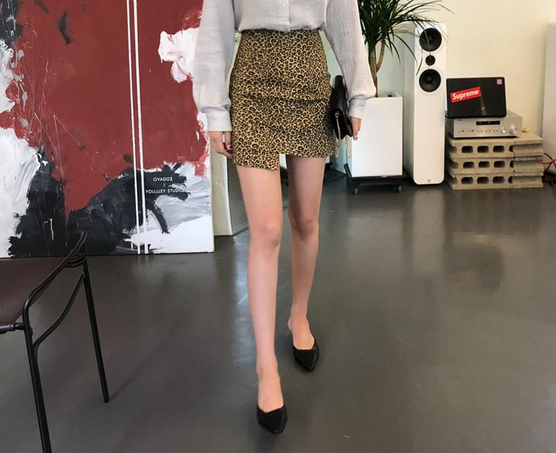 Leopard point skirt