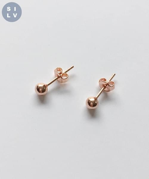 (silver925) rose earring