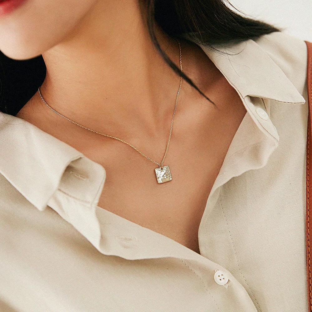 Cane Square Necklace