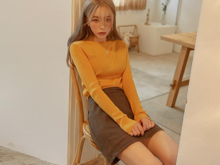 [TOP] 5 COLOR ANY ROUND GOLGI KNIT