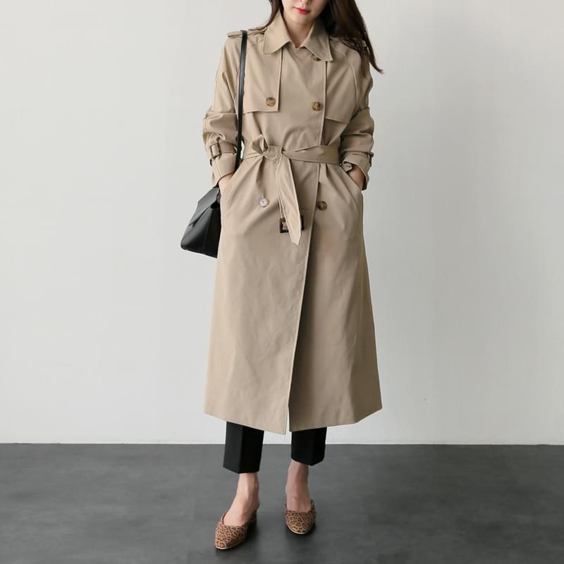 Half Trench coat black