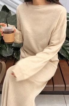 Lattebeige - Round knit