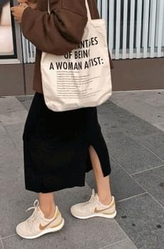 Lattebeige-knit skirt