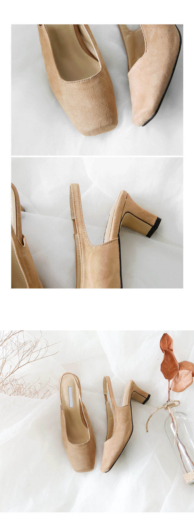 Kellin 's Slingback Middle Heel Pumps 5cm