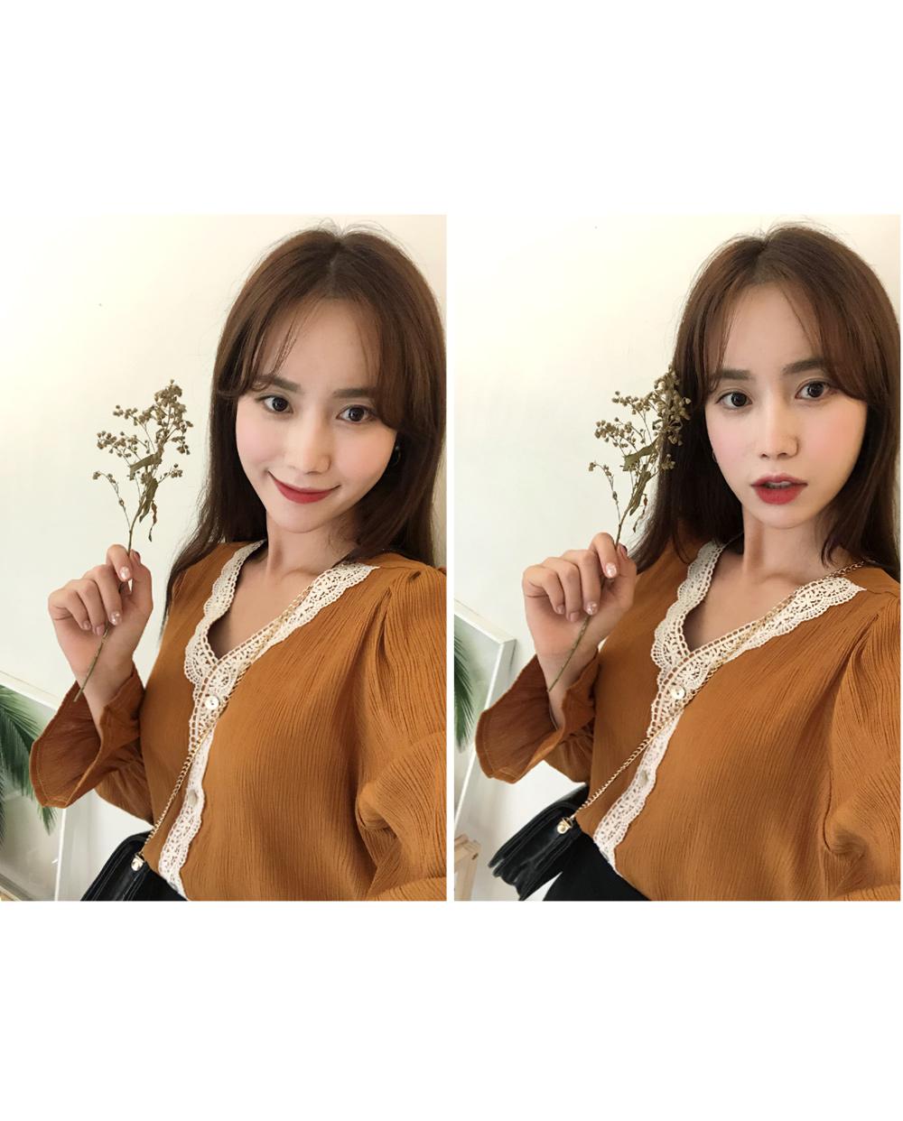 Blush lace blouse