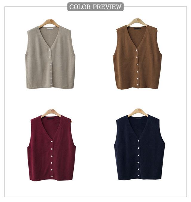 V double head button vest