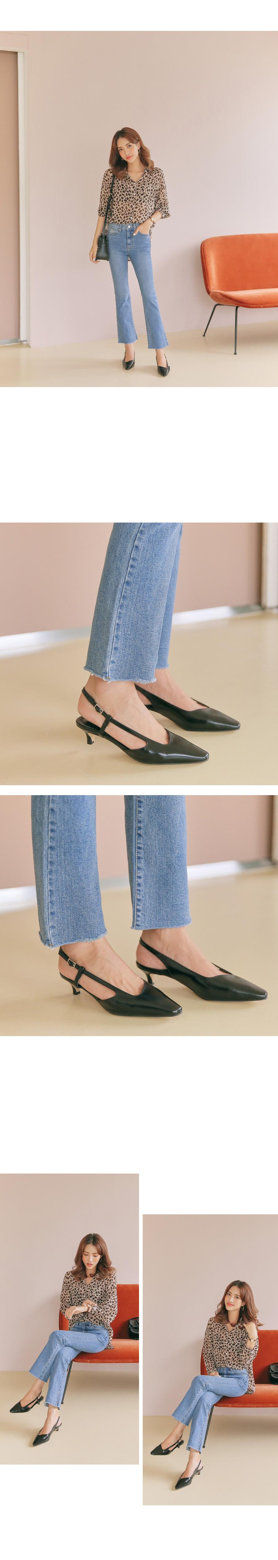 Unshielded Slingback Shoes