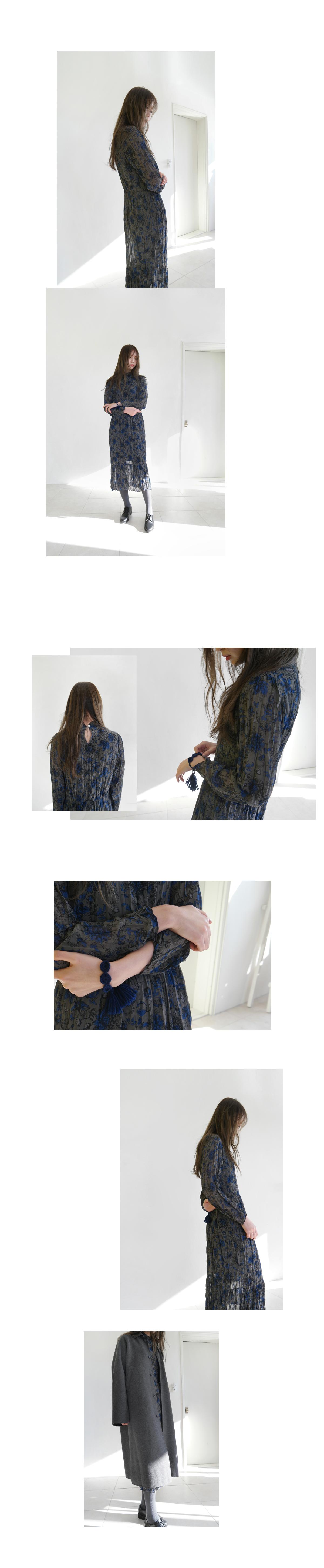 crease flower dress (3colors)