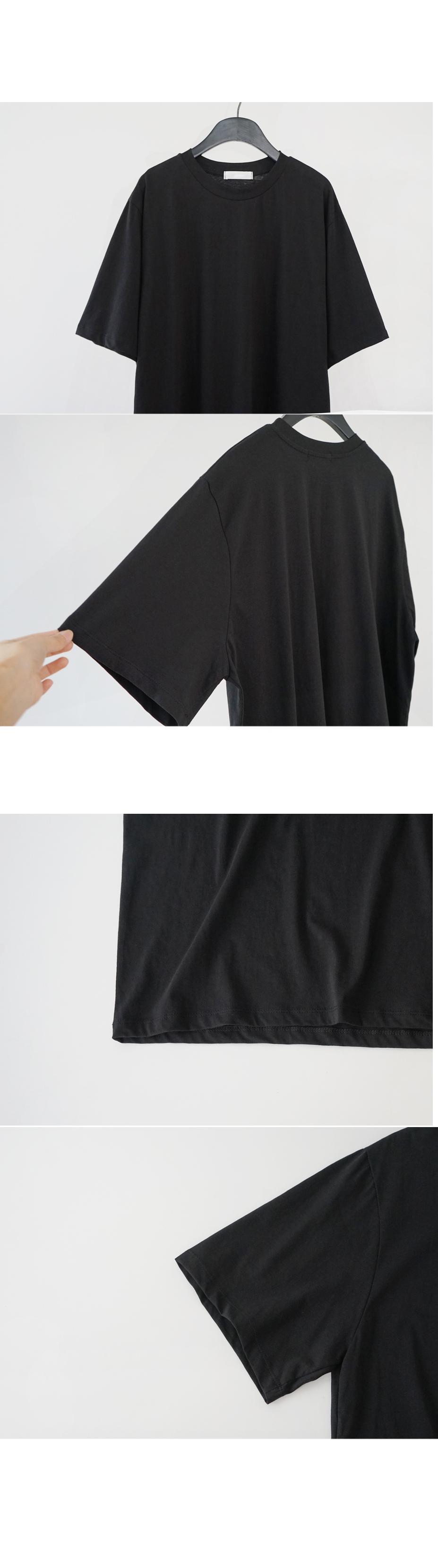 plain boxy half-sleeved T-shirt (5colors)