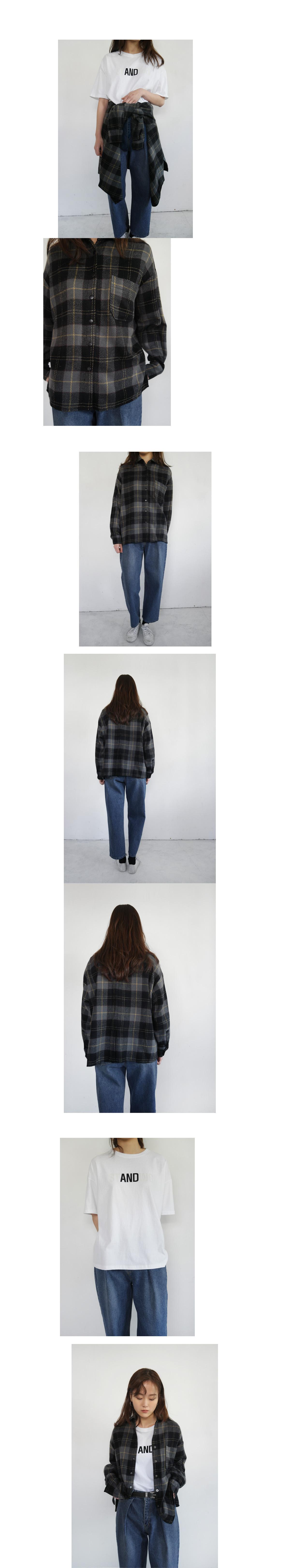 standing typo half tee (2colors)