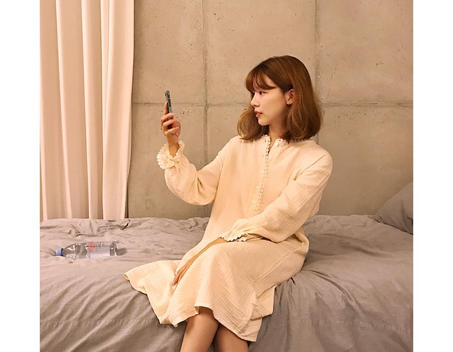 Lace embo pajama ops_B (size : free)