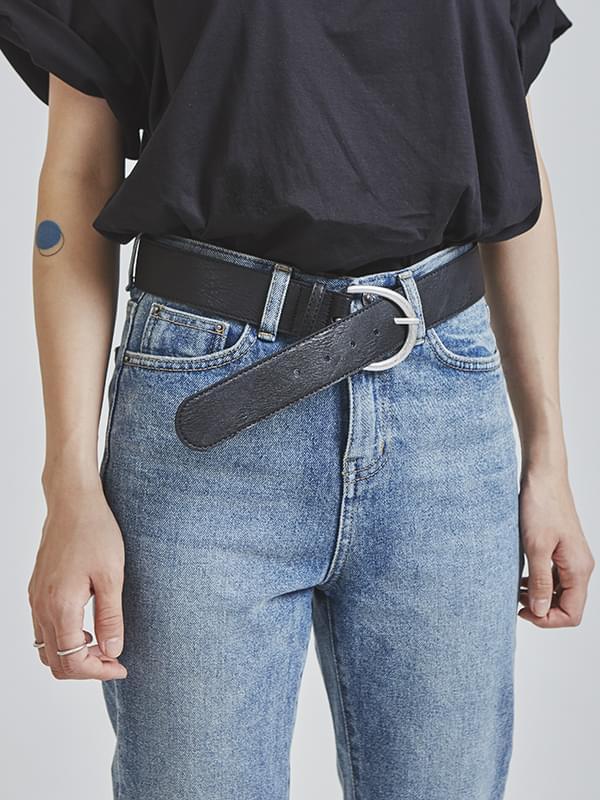SALE leather wide belt