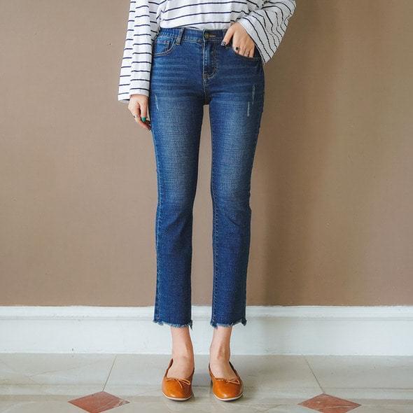 Dark span band jean pants