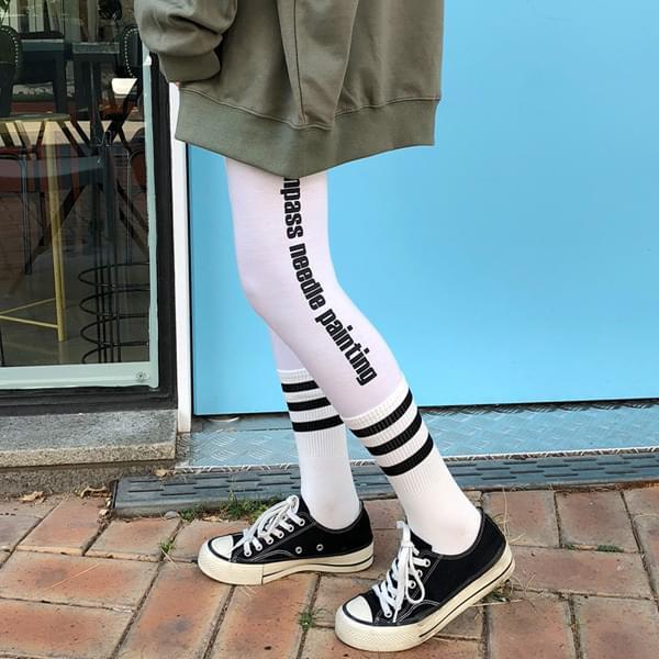 English Lettering Leggings