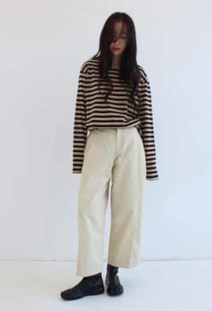 Pintuck wide pants (2colors)