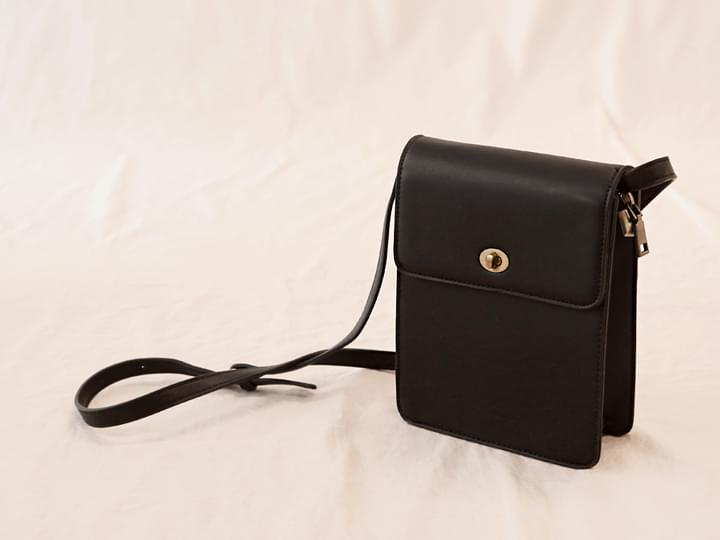 SQUARE MATT LEATHER BAG