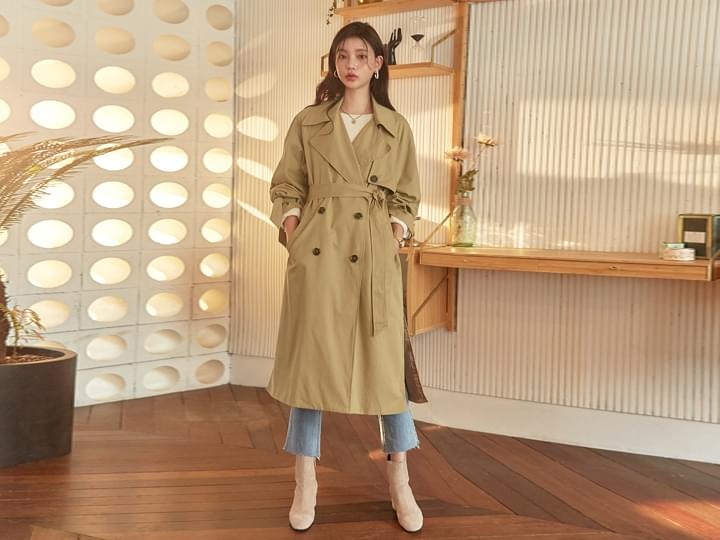 [OUTER] HIGH QUALITY DOUBLE TRENCH COAT