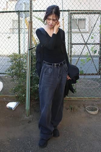 chaud over denim jeans (2colors)