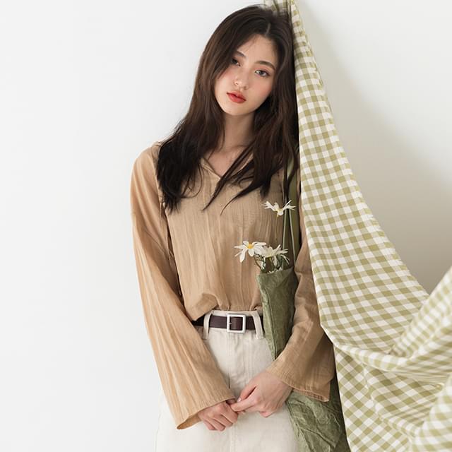 wrinkle hood blouse