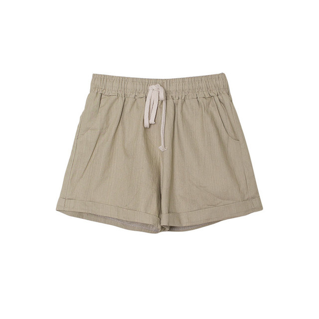 Pleat Cotton Bending Roll-up Shorts [Vacations / Festivals / Casual]