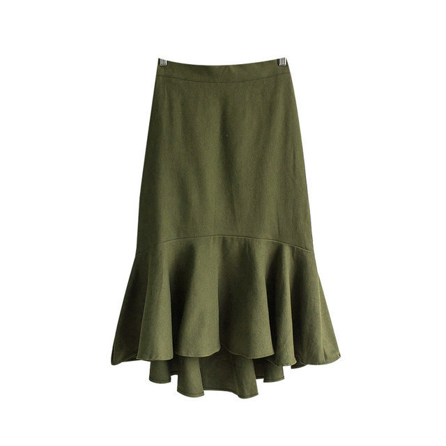 Bread Cotton Mermaid Banding Skirt