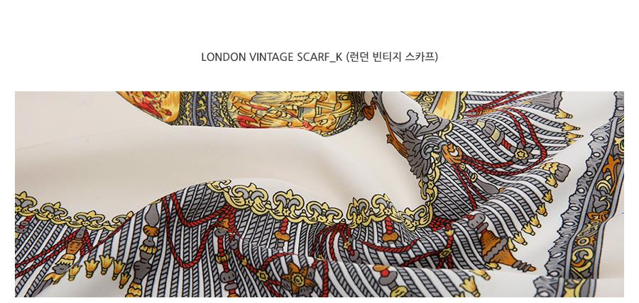 London vintage scarf_K (size : one)