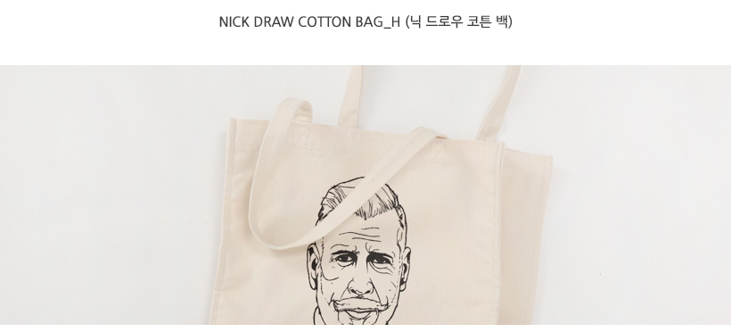 Nick draw cotton bag_H (size : one)