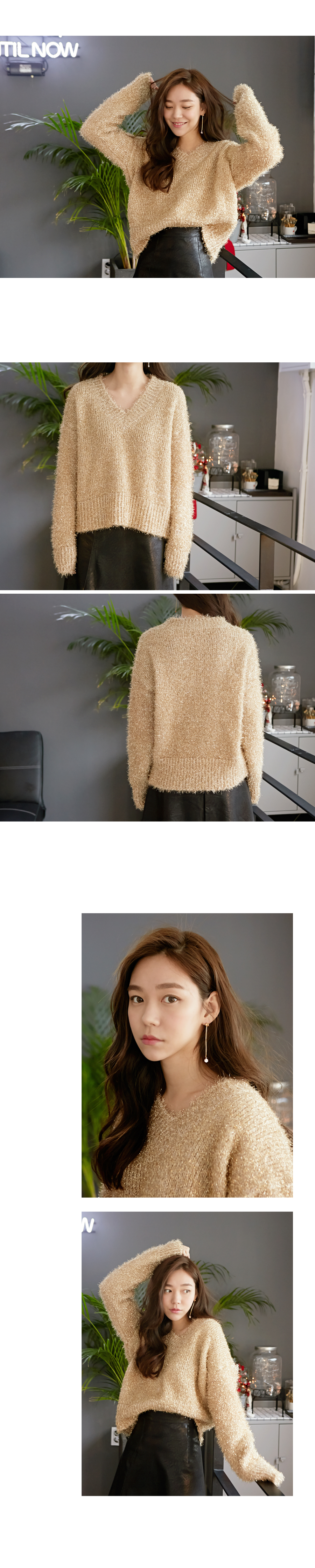 For holiday twinkle knit_Y (size : free)