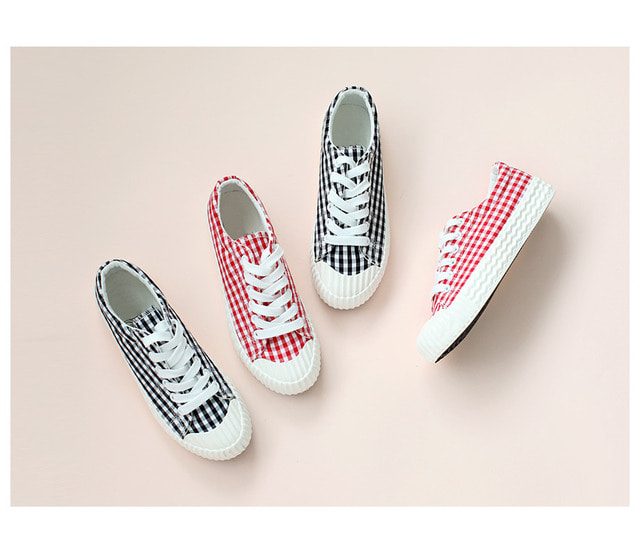 CheckKnee sneakers 3cm