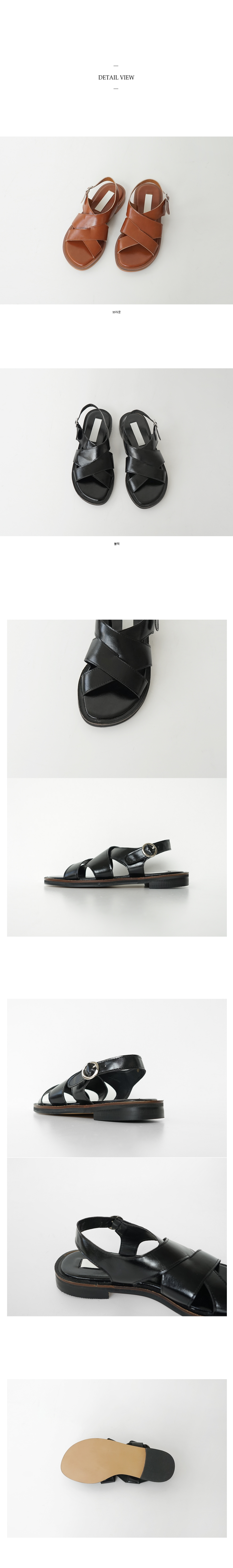 mannish mood sandals (2colors)
