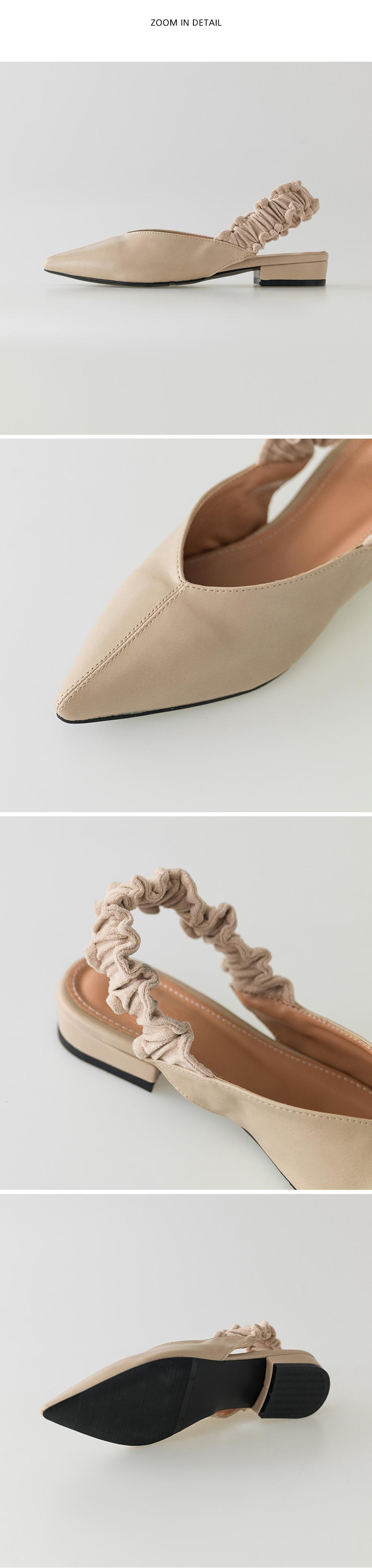 unique banding flat shoes