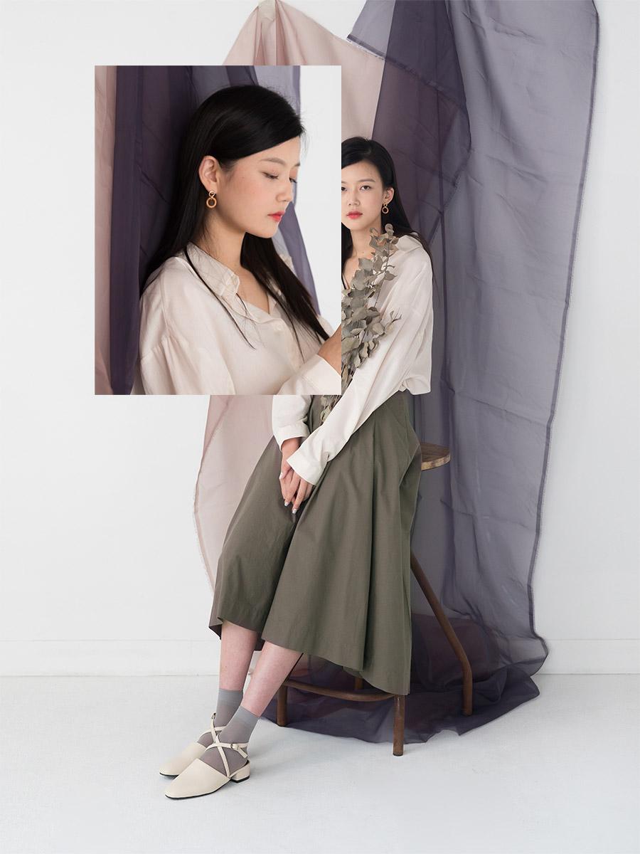 romantic flare long cotton skirt