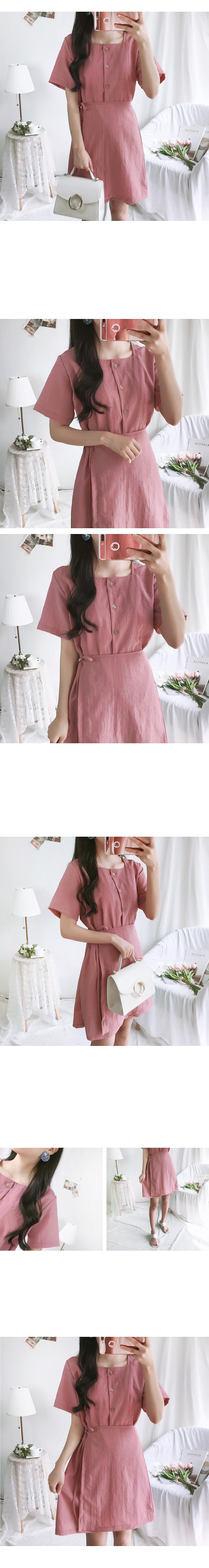 Cheongsun Linen Wrap Dress