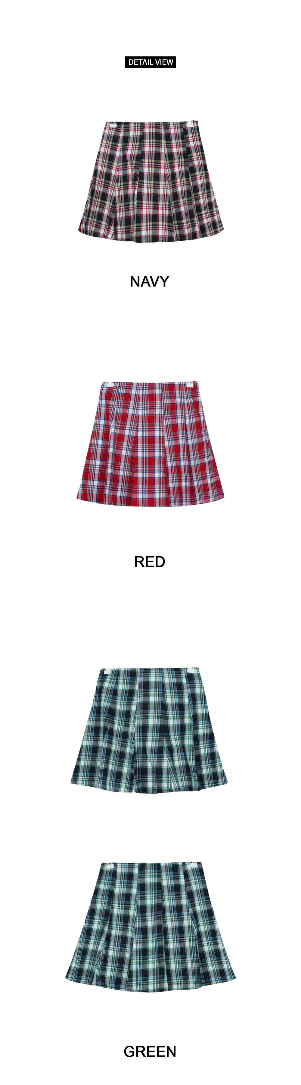 Joy check skirt