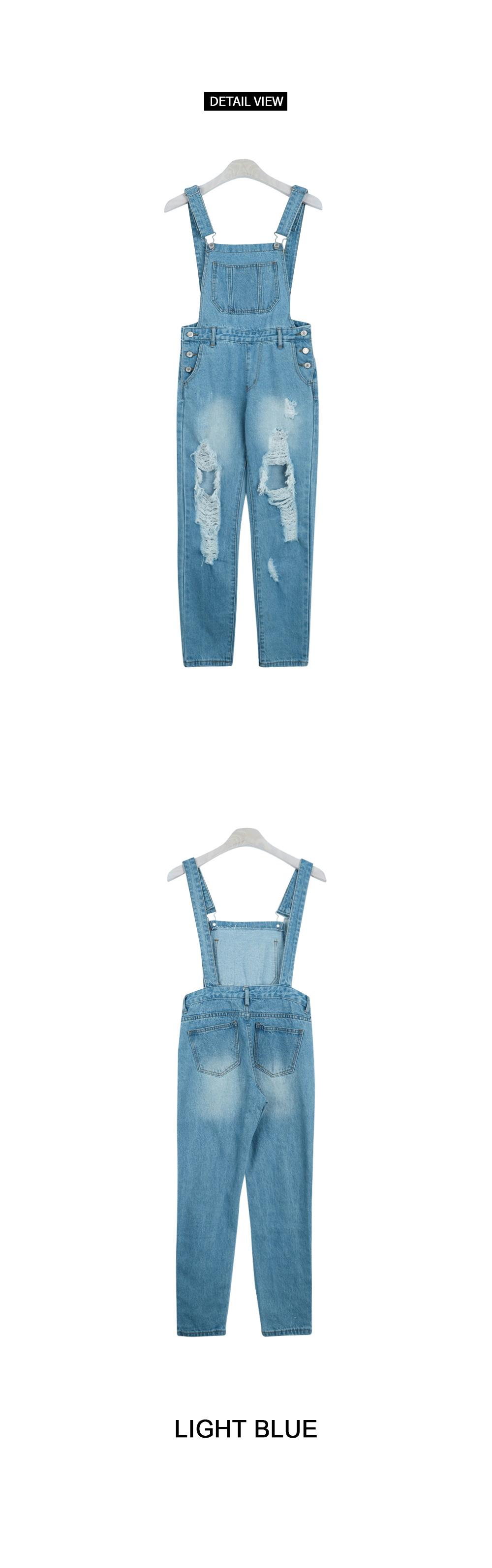 Vintage denim overall pants