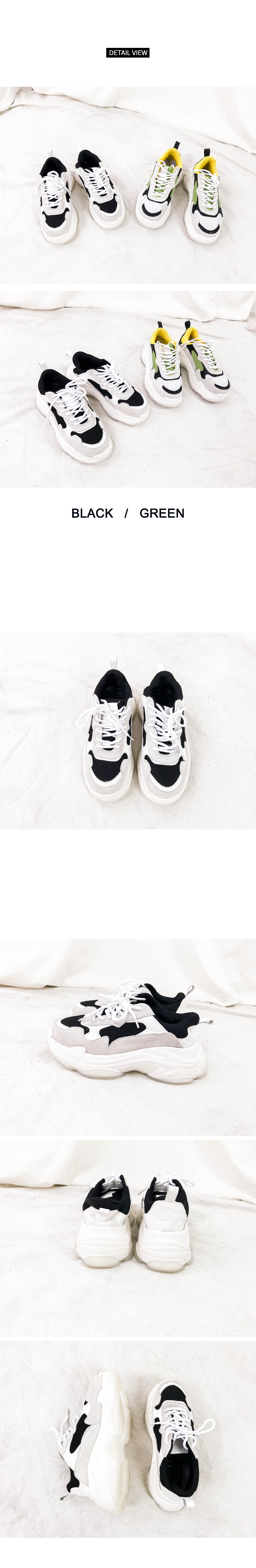 Three color high-necked sneakers (sh678)