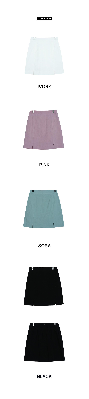 Linen tulip trim skirt
