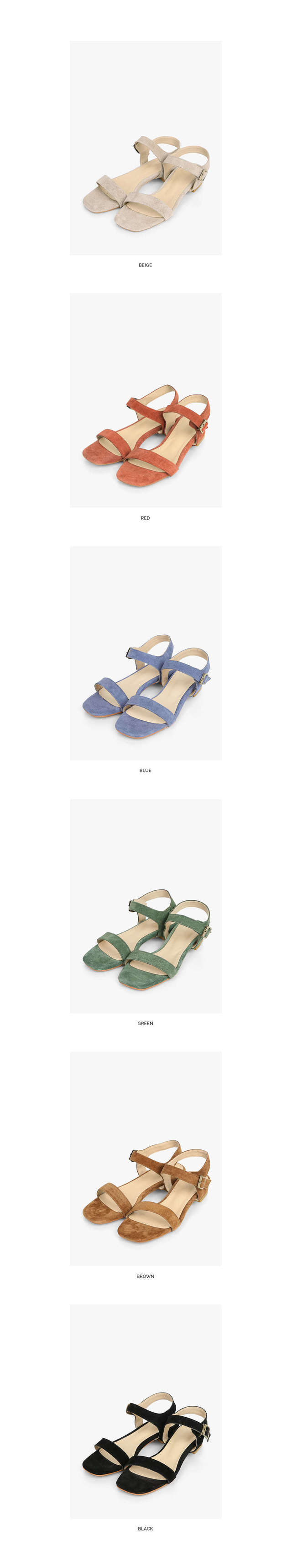 suede leather sandal (230-250)