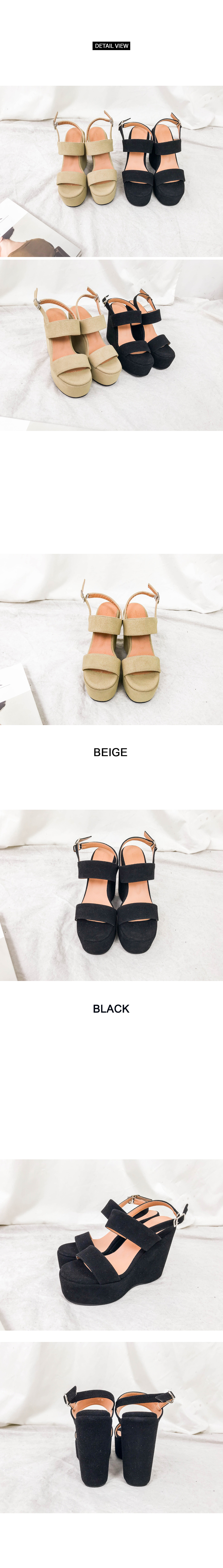 Open suede wedge hill (sh683)