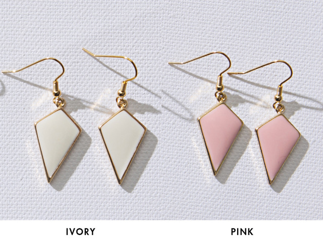 Diamond shape earring