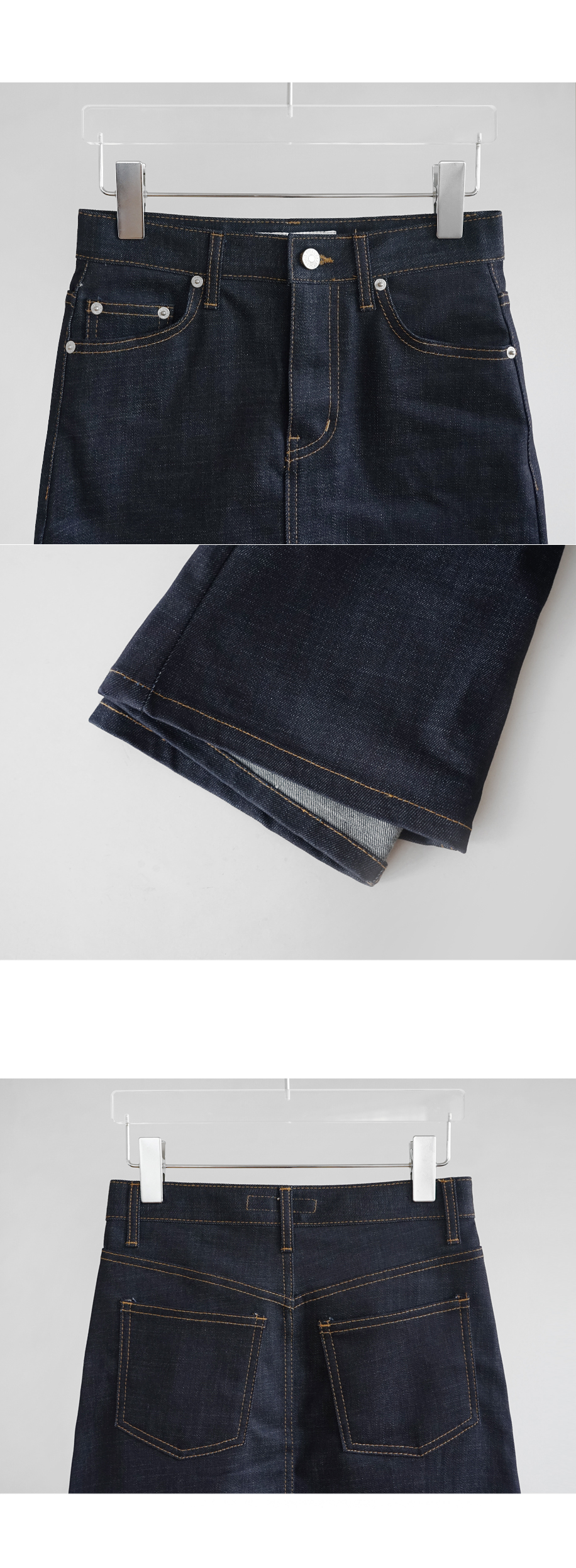 indigo butter mini skirt