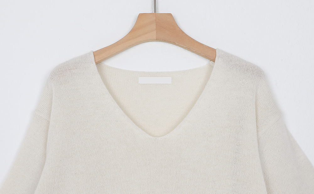 Serial v-nect knit (4colors)