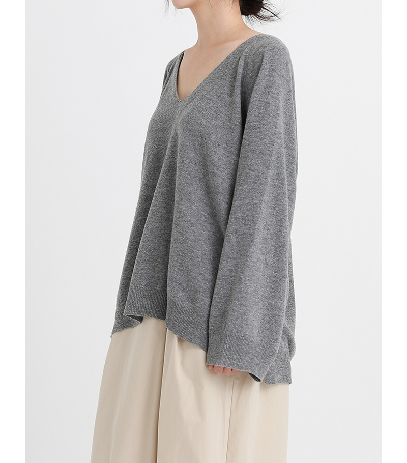 be my v-neck loose knit (5colors)