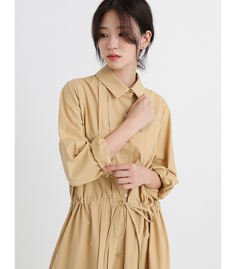 collar string weist point one-piece (2colors)