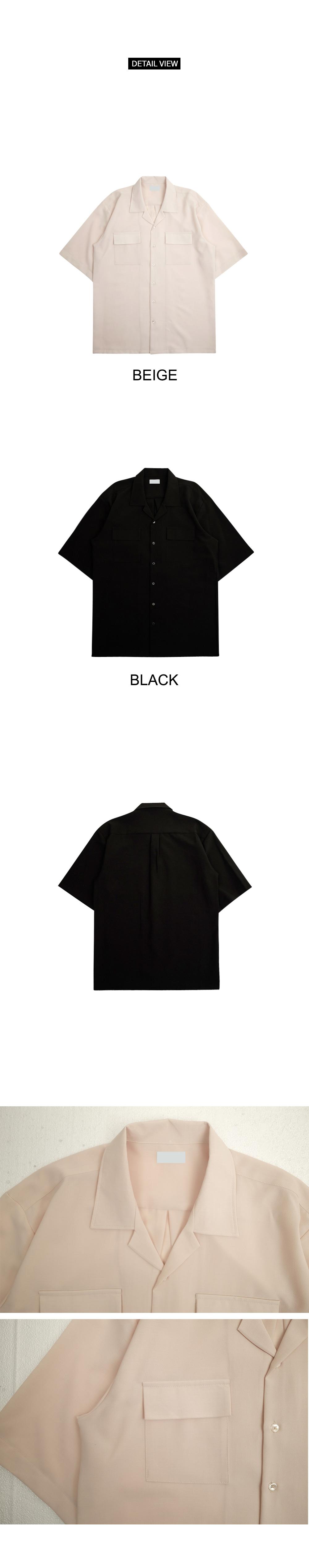 Arkin's open collar shirt