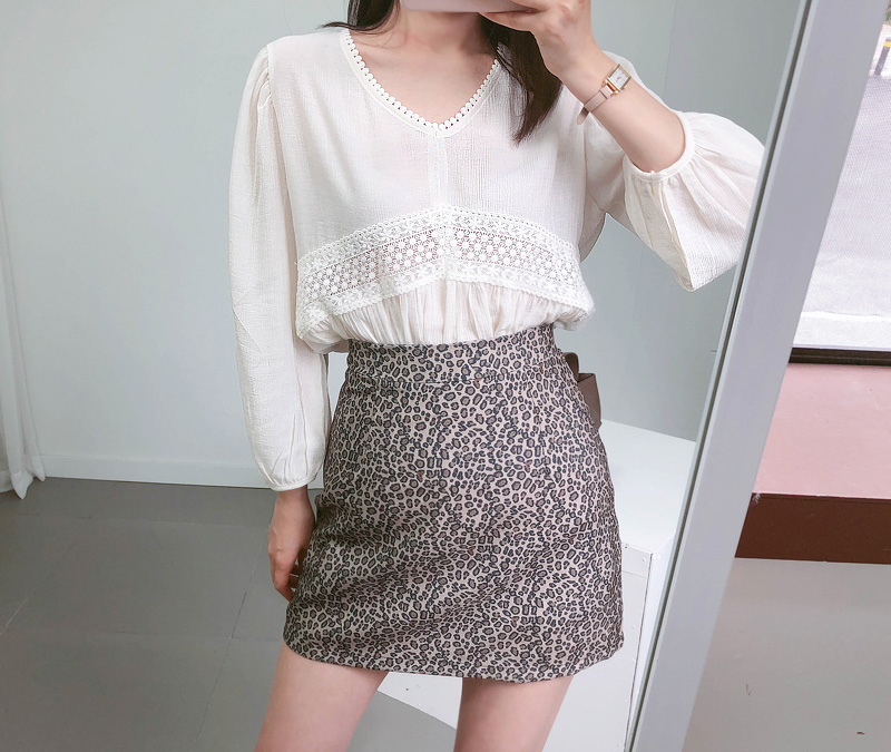 V-inspired blouse