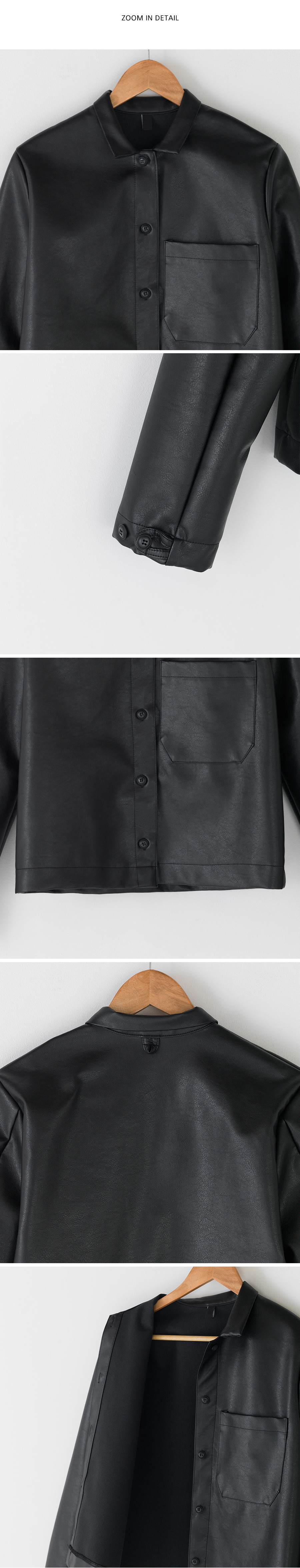 standard fit leather jacket